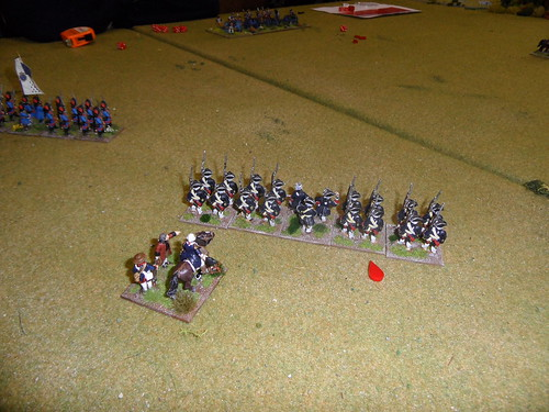 The French Grenadiers advance on the British guns