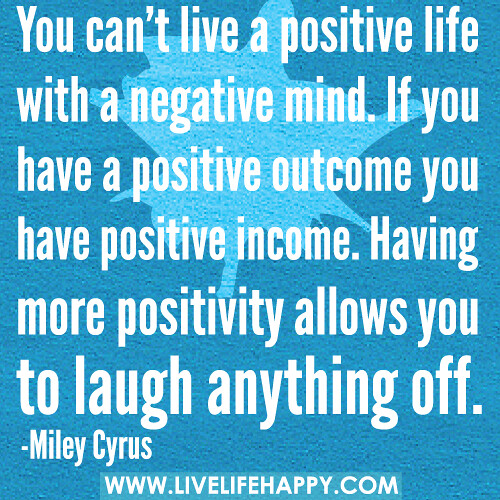 how to live a more positive happy life