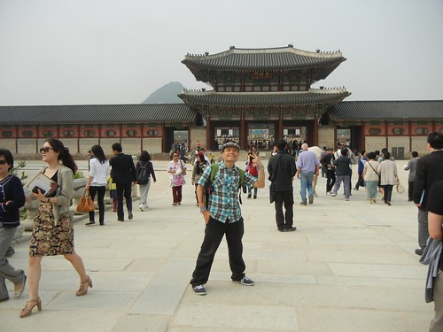 rik at Gyeongbokgung Palace, Seoul