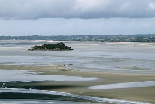 sky paris france castle beach water st island mt tide low views michel normandy