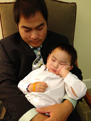 Mr. Sleepy with daddy