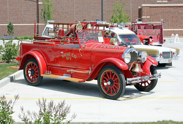 1924 Buick Model 45 Hose Wagon Chemical Truck Ex Peoria
