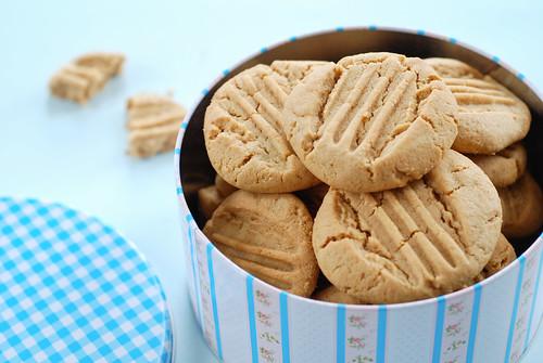 maapähklivõiküpsised/peanut butter cookies