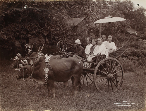 Burmese festival cart by The National Archives UK