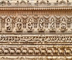 BAPS Shri Swaminarayan Mandir Wall Detail