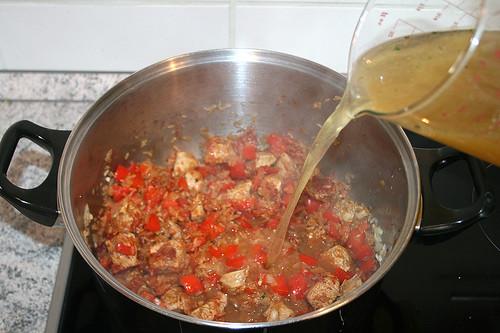 25 - Hühnerbrühe aufgießen / Drain chicken stock