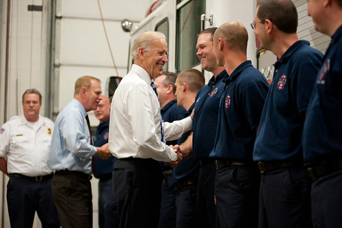 Made in Ohio tour with Joe Biden, May 16, 2012