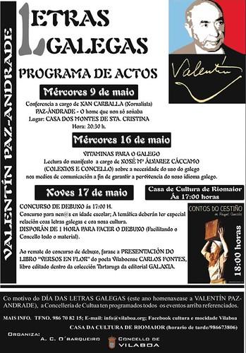 Actos Día das Letras Galegas 2012 en Vilaboa