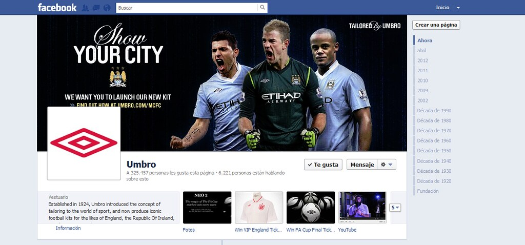 Facebook on Umbro