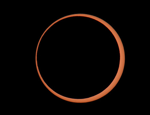 Annular Eclipse, Bryce Canyon 2012 - Maximum Annularity