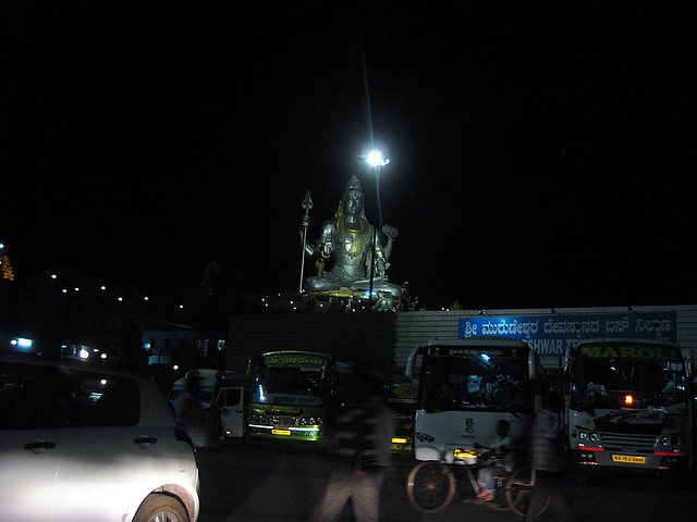 Lord Shiva at Murudeshwar, in the night