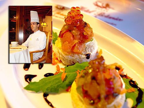 José Marín, & appetiser, Hotel Botanico, Puerto de la Cruz