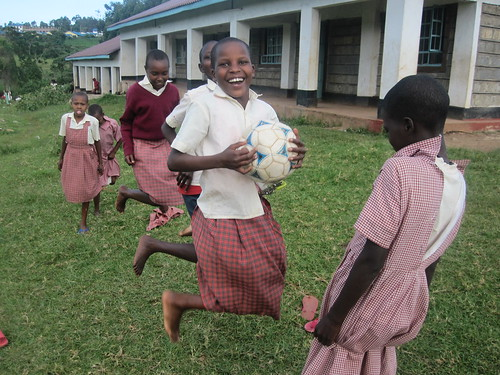 KCE girls often play jump string after school, a game similar to Chinese jump rope