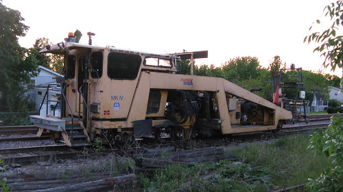 Union Pacific Railroad track maintenance equipment.  Des Plaines Illinois. May 2012. by Eddie from Chicago