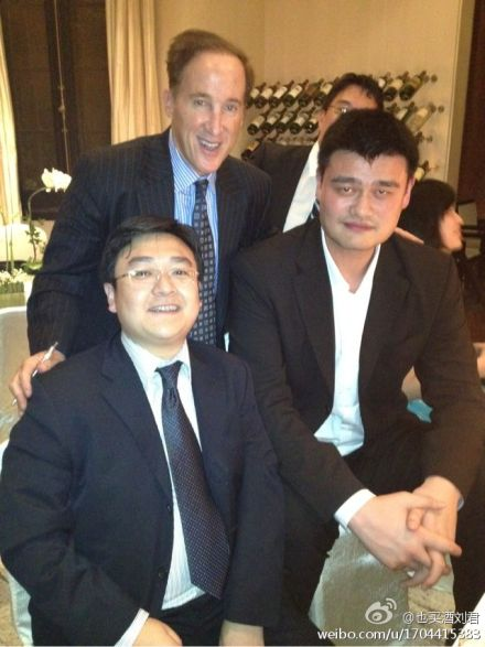 May 25th, 2012 - Yao Ming appears with Wine Enthusiast co-founder and publisher Adam Strum at a welcome reception in Shanghai