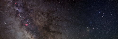 Milky Way: Three Panel Panorama by Nightfly Photography