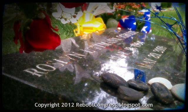 Roslyn Schulte grave marker Memorial Day 2012