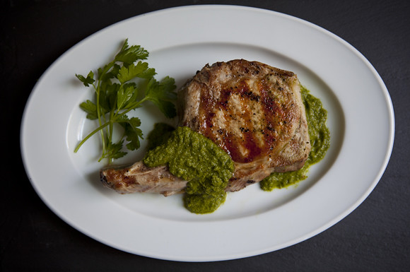 pork chops chimichurri