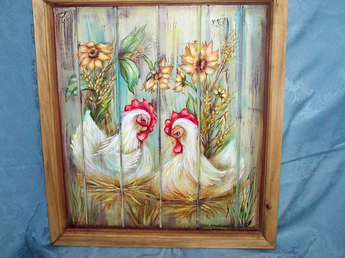 Country Chickens Painting