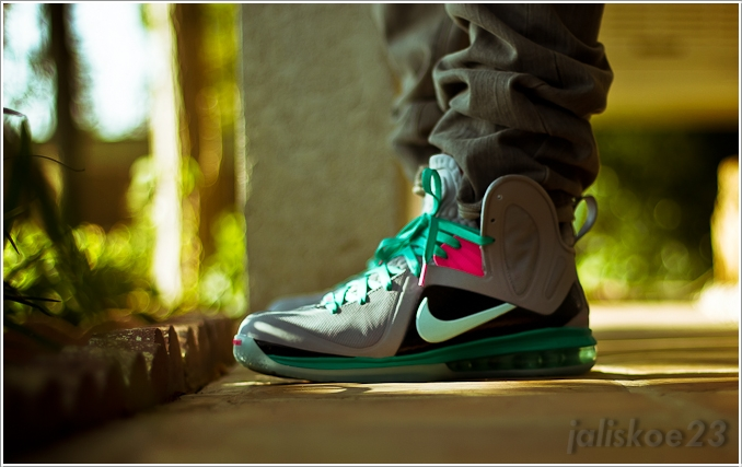 sneakers for cheap abf63 f6bd7 ... Lebron 9 Elite South Beach On Feet that he designed himself, via Nike  Basketball.. eBay Marketplace Logo