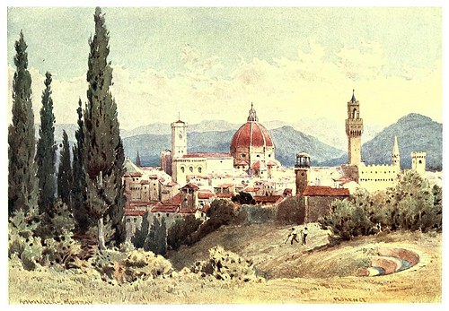018- Florencia-Sketches on the old road through France to Florence-1905- Alexander Henry Hallam Murray