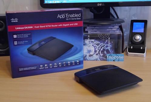 Linksys EA3500 bevielis Dual Band N750 Gigabit routeris