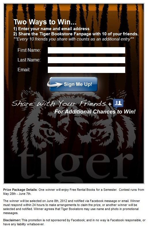 MBS Foreword Online - Tiger Bookstore Facebook Promotion