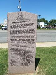 U. S. S Oklahoma Anchor and marker OKC.