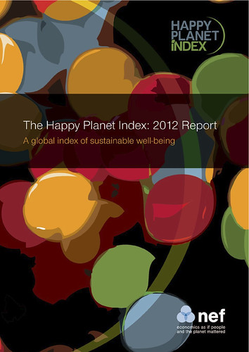 Happy Planet Index 2012 @nefwellbeing