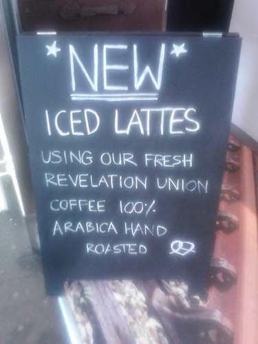 new ice lattes by Knot Pretzels