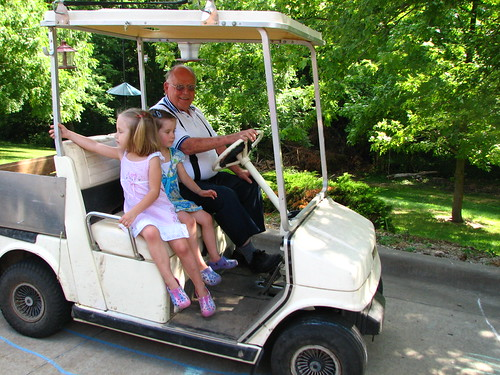 golf cart rides with Great-Pa
