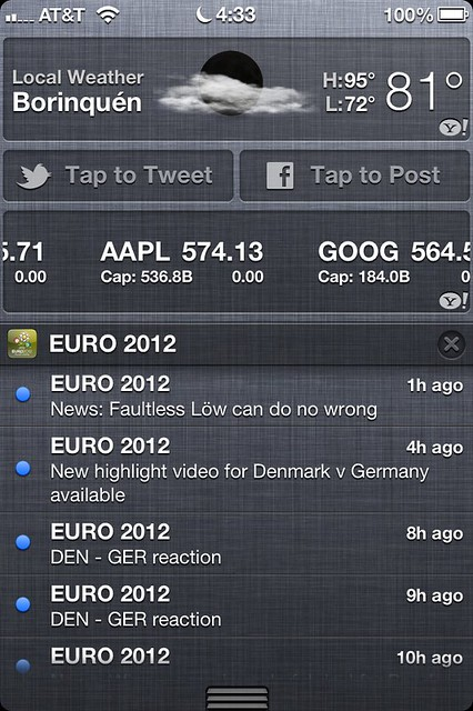 iOS 6 - Notification Center