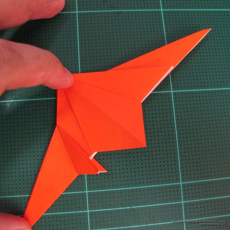 วิธีการพับกระดาษเป็นรูปไดโนเสาร์ (Origami Dinosaur) 008