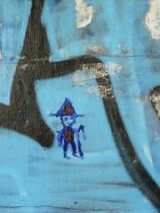 petit bonhomme bleu de Strasbourg