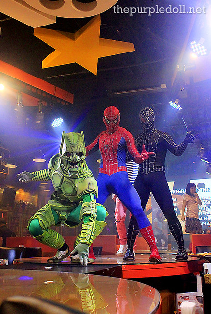 Spiderman, Venom and The Green Goblin