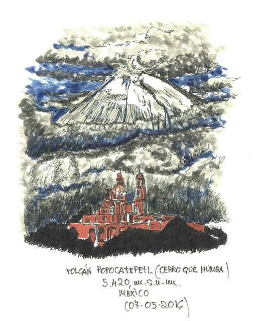 Popocatépetl (5.420 m.s.n.m.)
