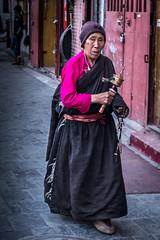 Pilgrim at Barkhor, Lhasa