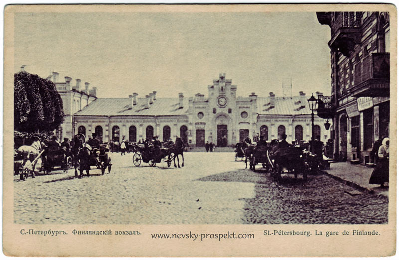The Finland station from a view taken around 1907
