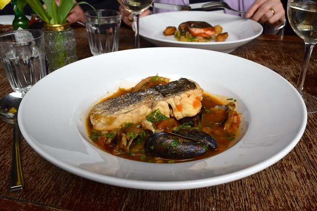 Bouillabaisse with hake, clams, mussels & pearl barley at Wyatt and Jones, Broadstairs | www.rachelphipps.com @rachelphipps