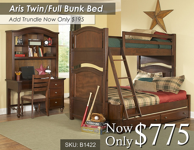 Aris Twin Full Bunk Bed 1422