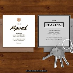 Moving announcements for families and businesses :house::post_office: I designed these cards for @greenvelope #movingday #movinghouse
