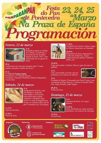 Pontevedra 2012 - Festa do Pan - programa