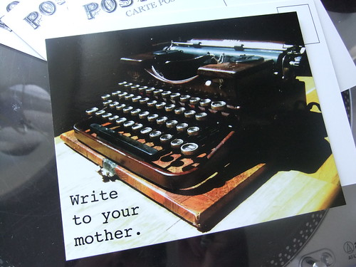 Write to Your Mother Postcard