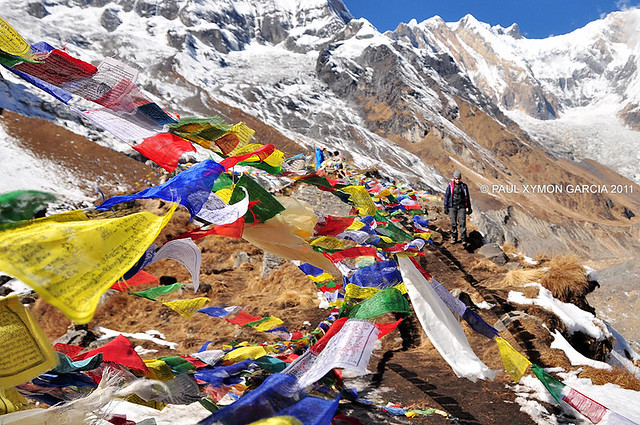 Prayer Flags at the Annapurna Base Camp