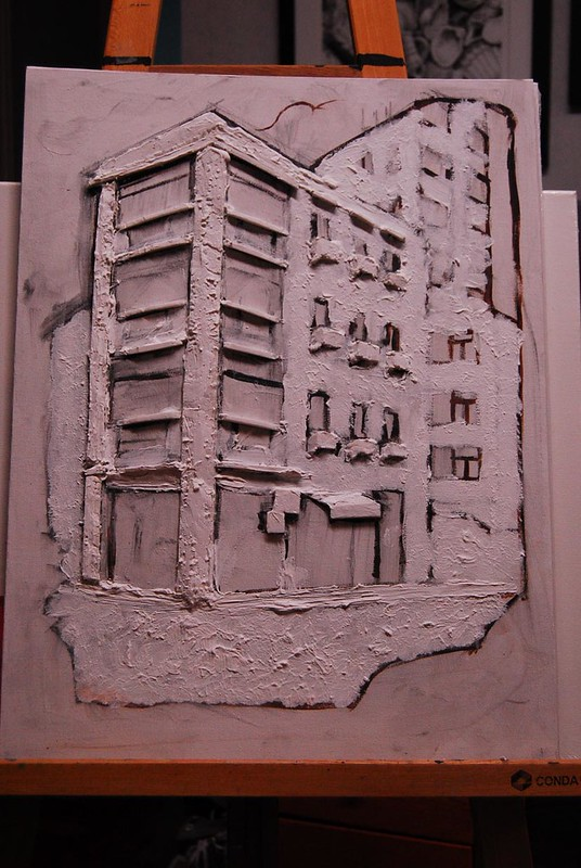 Painting in Progress: Sheung Wan Tenement Building 上環唐樓製作中