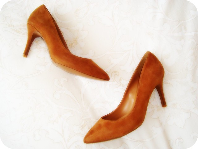 Camel Suede Pumps