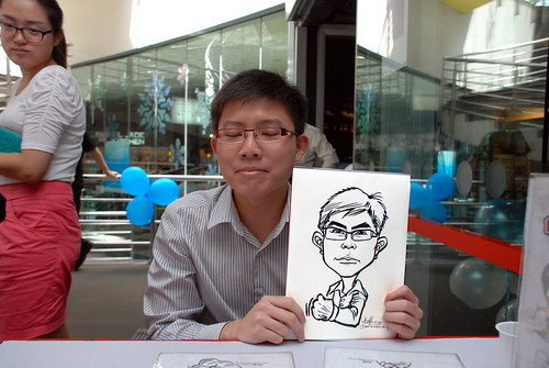 Caricature live sketching for Singapore Suntec City Annual Party - 13