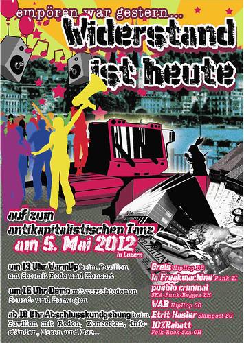 Empören war gestern... Widerstand ist heute - Flyer Front - 05.05.2012 - PUEBLO CRIMINAL