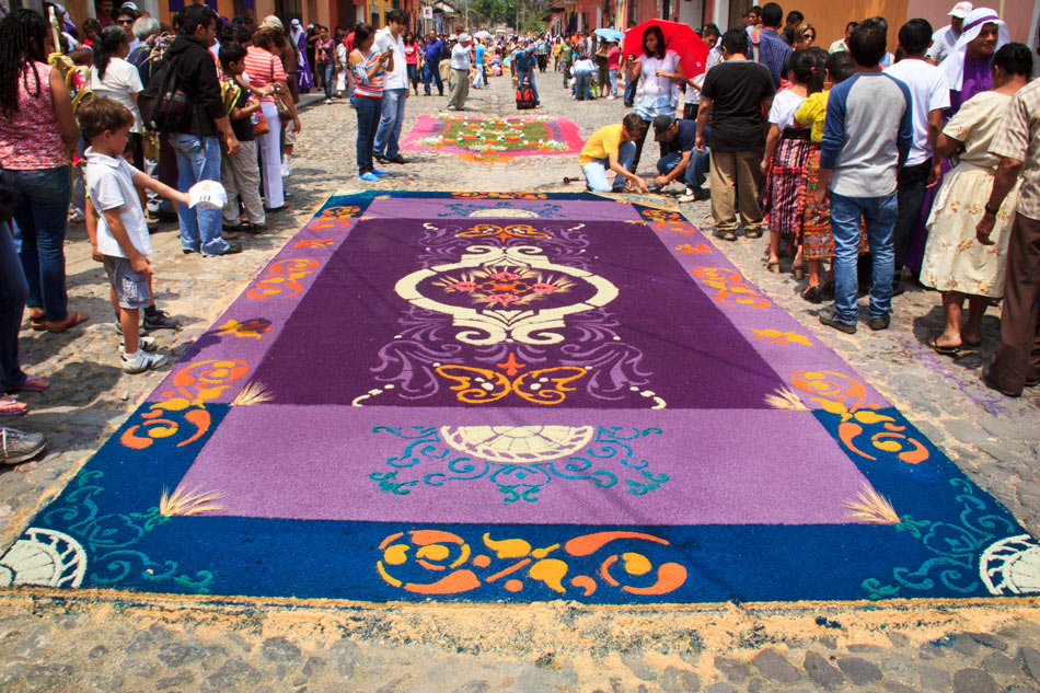 Photos: Antigua's Alfombras, the Sacred Carpets of Semana Santa