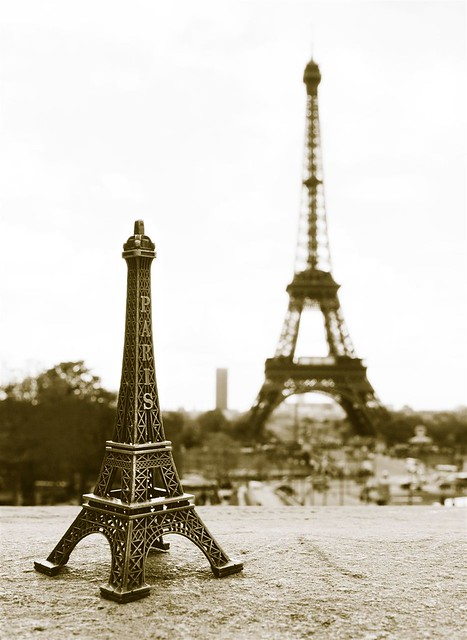 Mini Amp Real Eiffel Tower Paris Flickr Photo Sharing